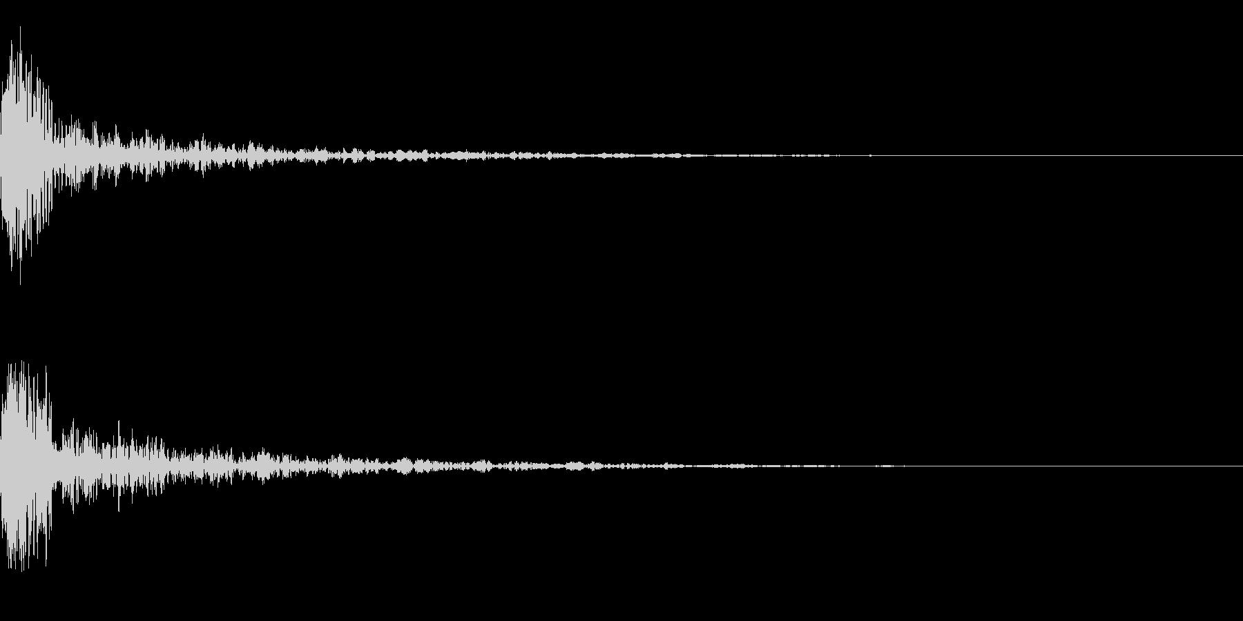 ドーン-51-1(インパクト音)の未再生の波形