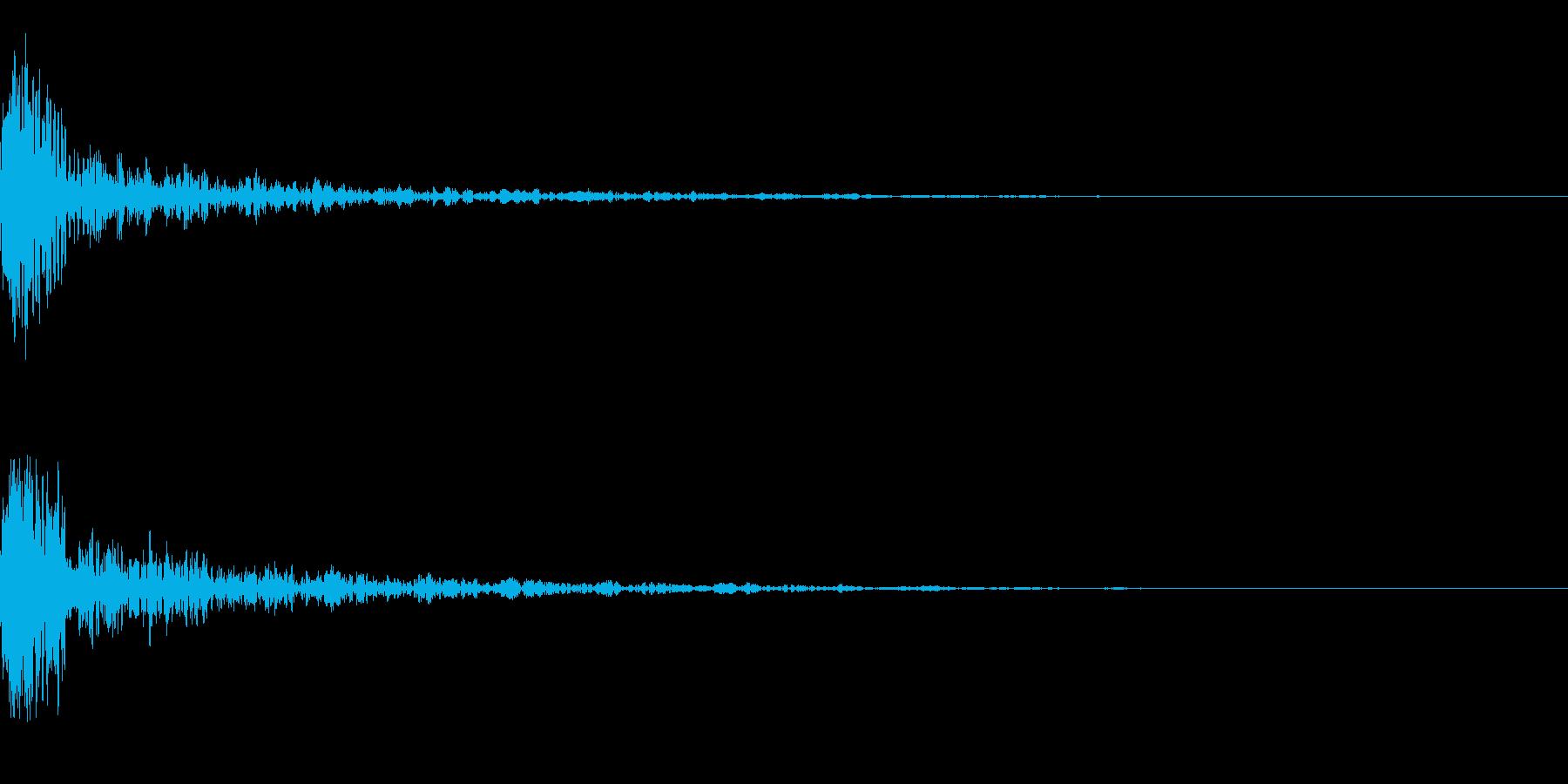 ドーン-51-1(インパクト音)の再生済みの波形