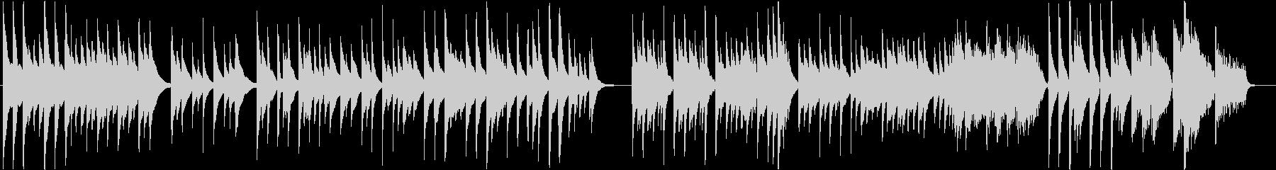 箏(琴)ソロ「さくらさくら」後半変奏付きの未再生の波形