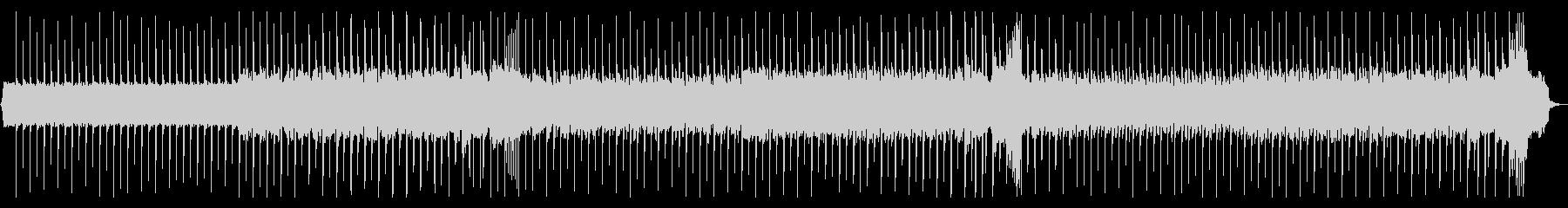 ロックギター、リフが繰り返されるBGM3の未再生の波形