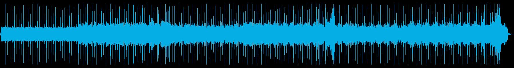 ロックギター、リフが繰り返されるBGM3の再生済みの波形