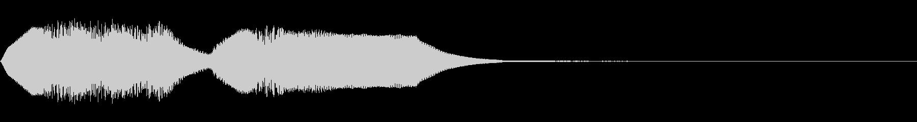 シンセサイザーのシンプルファンファーレの未再生の波形