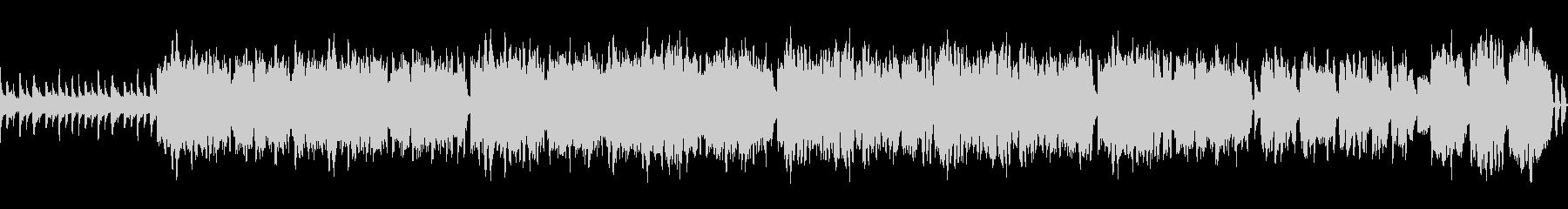 オカリナが旋律を奏でる牧歌的な曲の未再生の波形