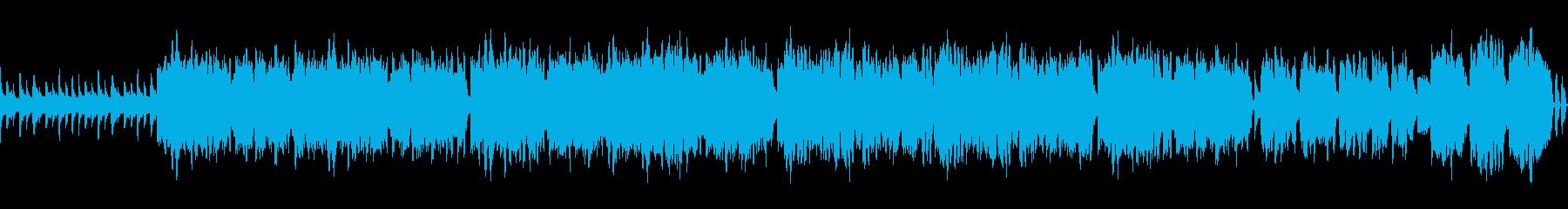 オカリナが旋律を奏でる牧歌的な曲の再生済みの波形