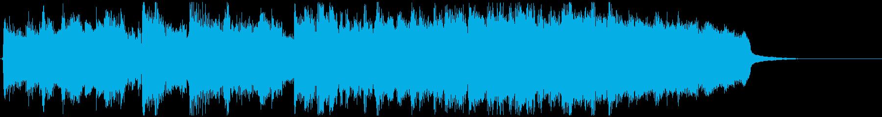 だんだん高揚感が増していく15秒ジングルの再生済みの波形