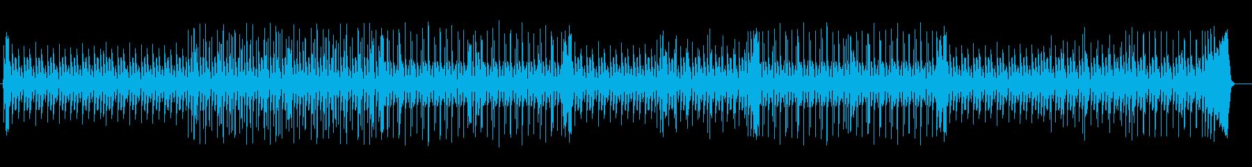 洗練されたドラムによるポップスの再生済みの波形