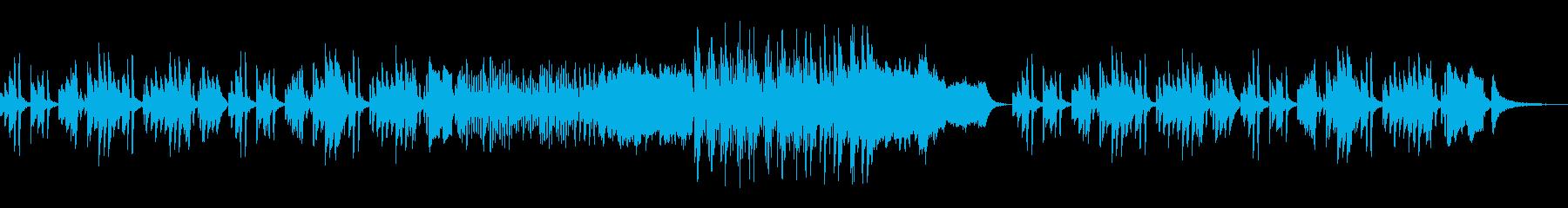 ほのぼのしたかわいい雰囲気のBGMの再生済みの波形