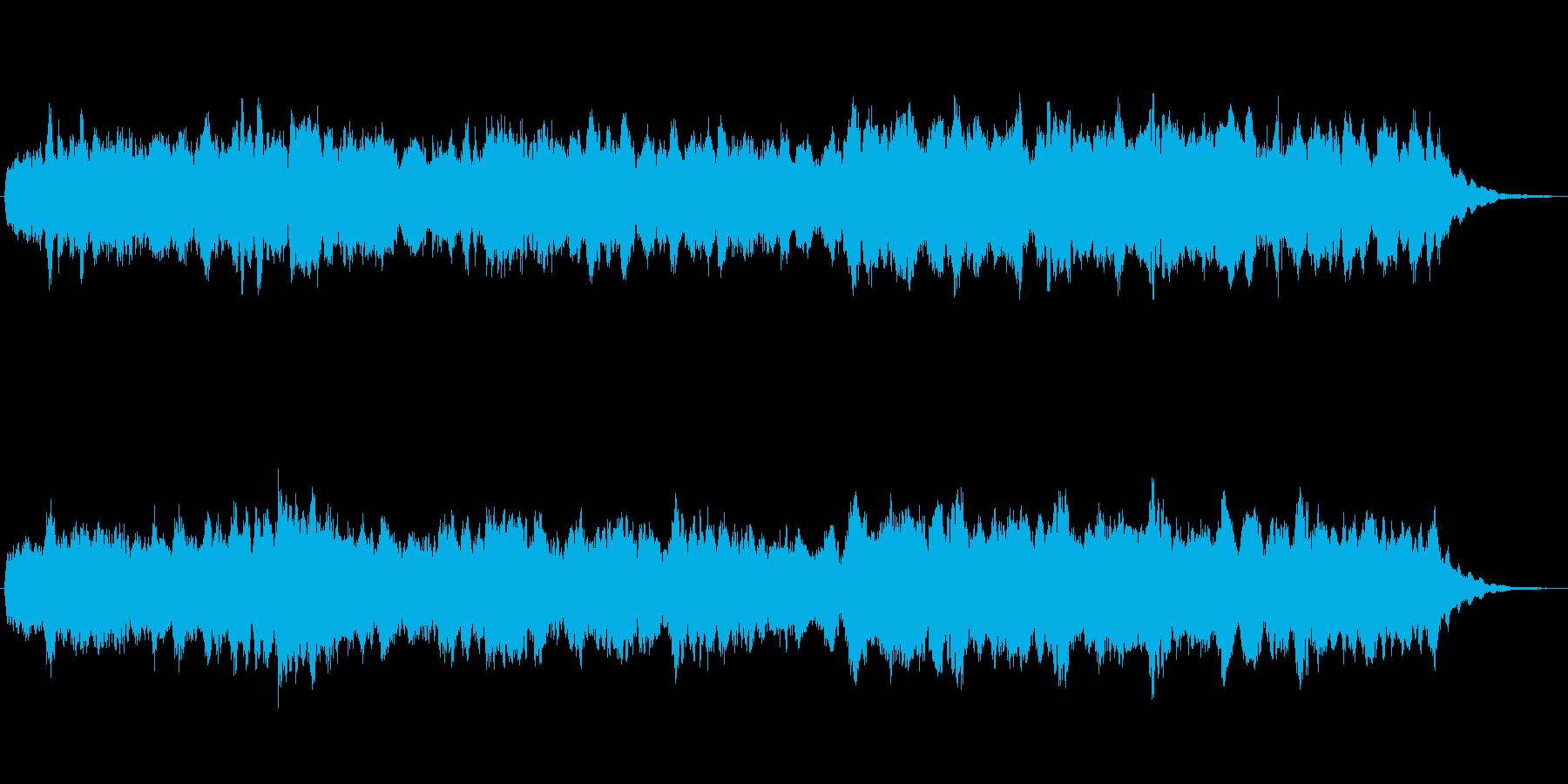 ほのぼのとしたジングルの再生済みの波形