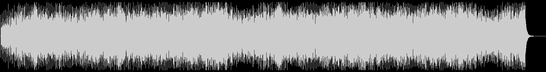 アップテンポのキラキラシンセサイザーの曲の未再生の波形