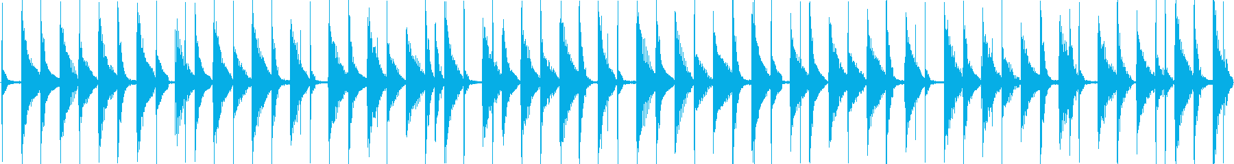 軽快な日常系エレクトロポップの再生済みの波形
