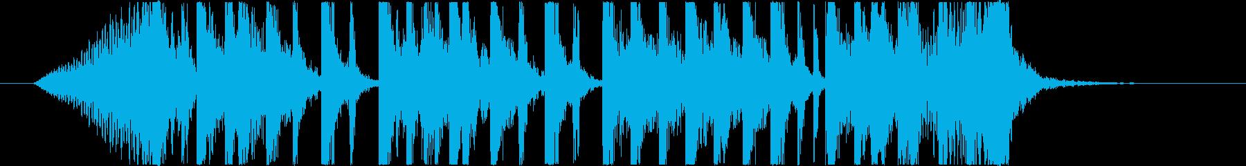 オープニングに最適な躍動感あるジングル1の再生済みの波形