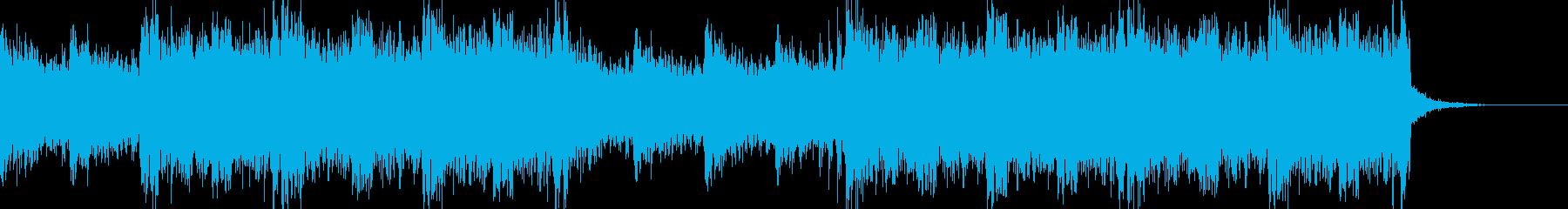ストリングスを使ったホラー系BGMの再生済みの波形