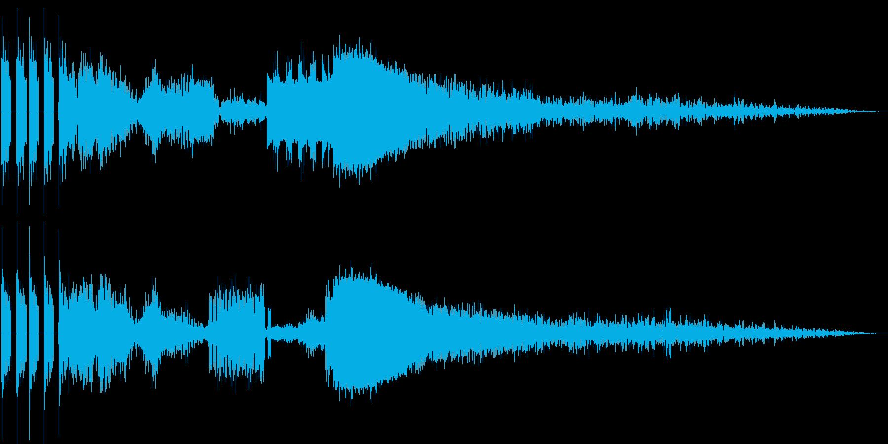 FMジングルキット 効果音の再生済みの波形