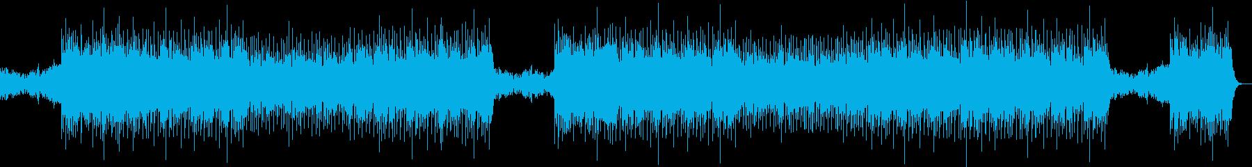 ヒップホップ系音楽の再生済みの波形