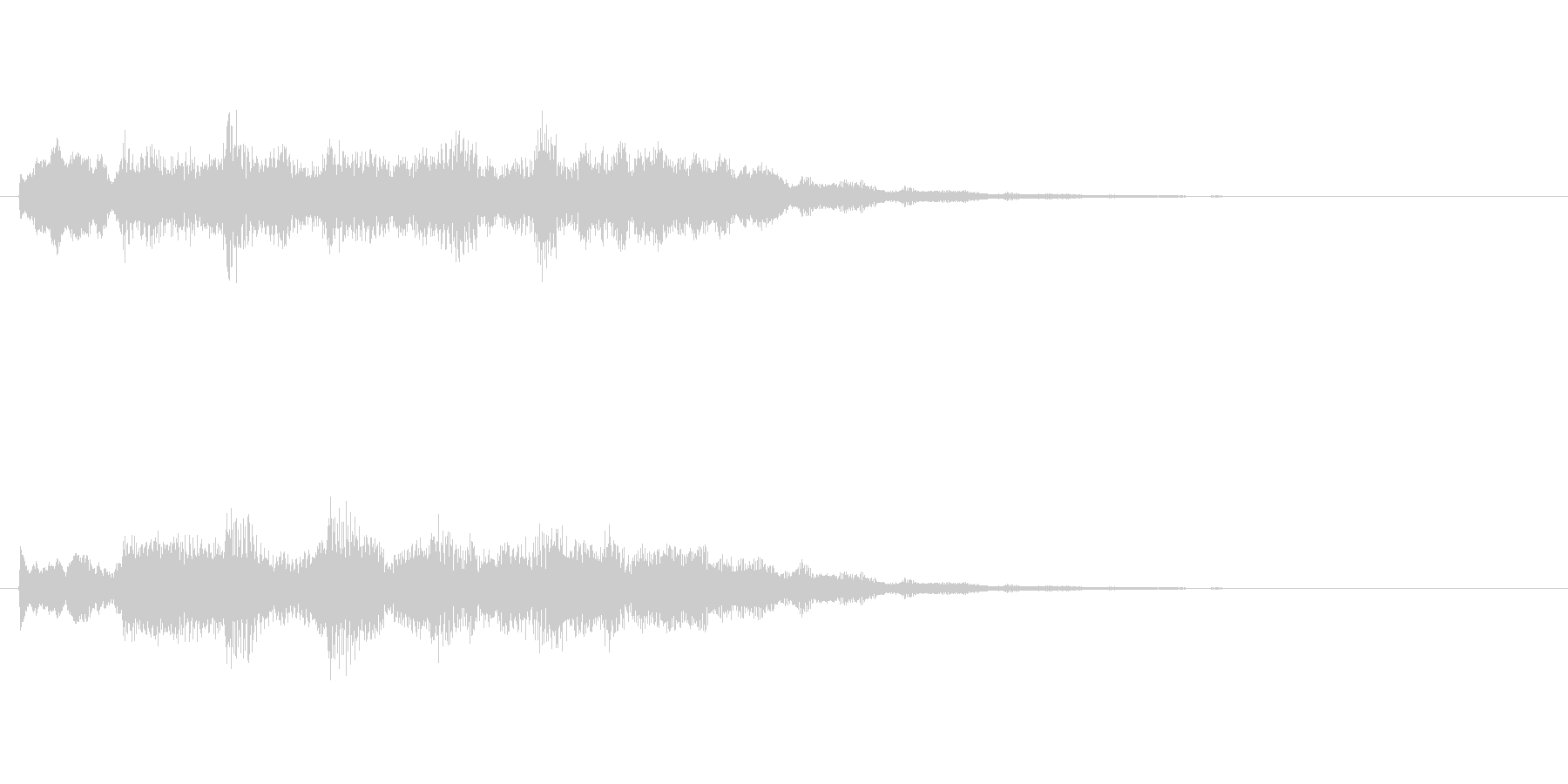 クイズ正解音の未再生の波形