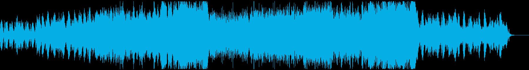 挑戦的なオーケストラの再生済みの波形