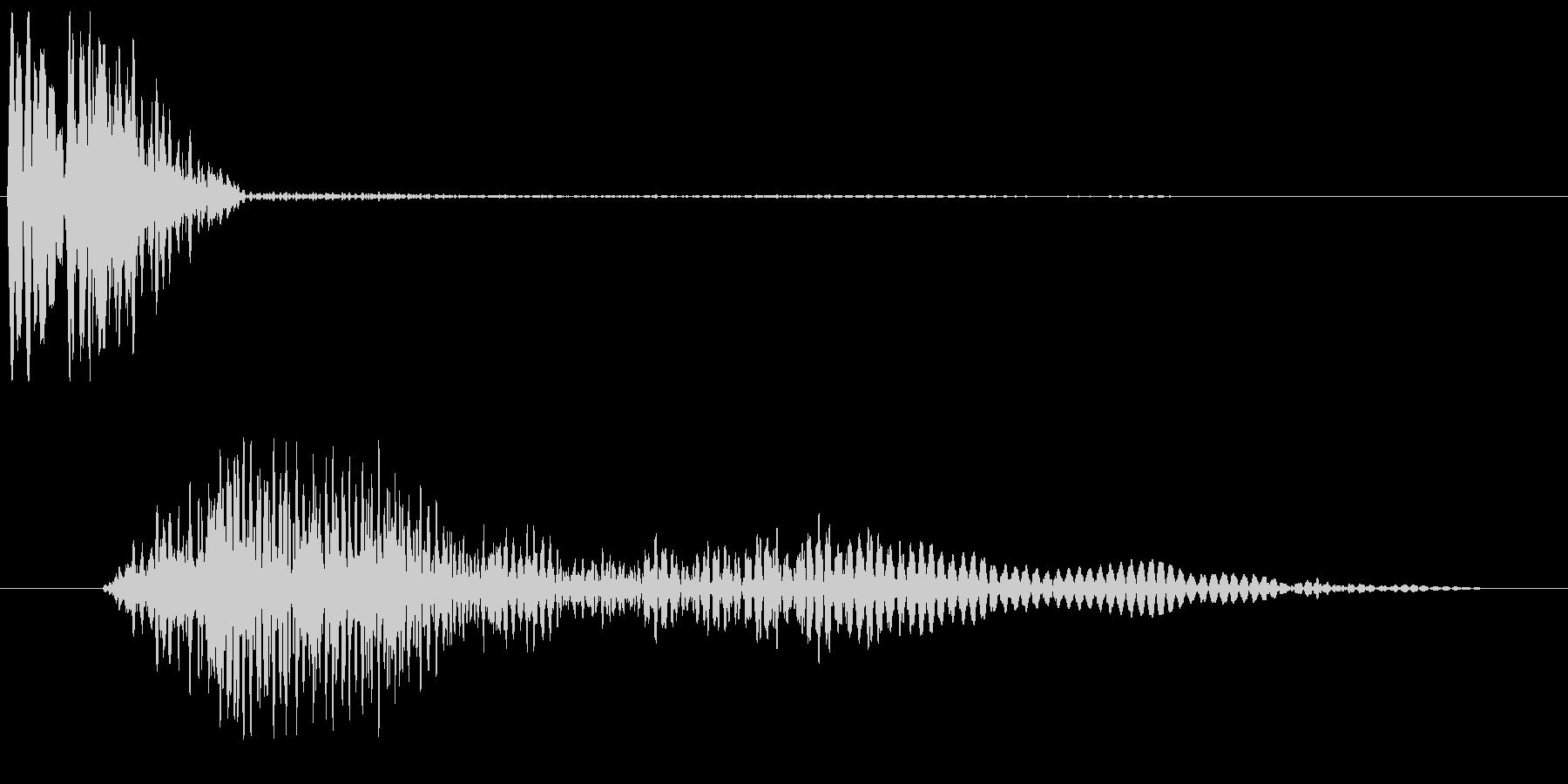 パシュー(速さや勢い、流れを感じる音)の未再生の波形