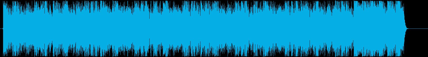 疾走感のあるハイテンポなデジタルロックCの再生済みの波形