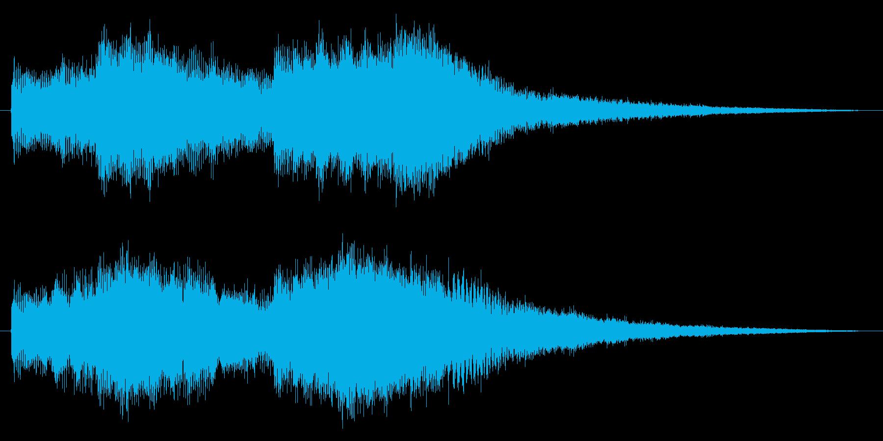 幻想的で美しいオープニングロゴの再生済みの波形