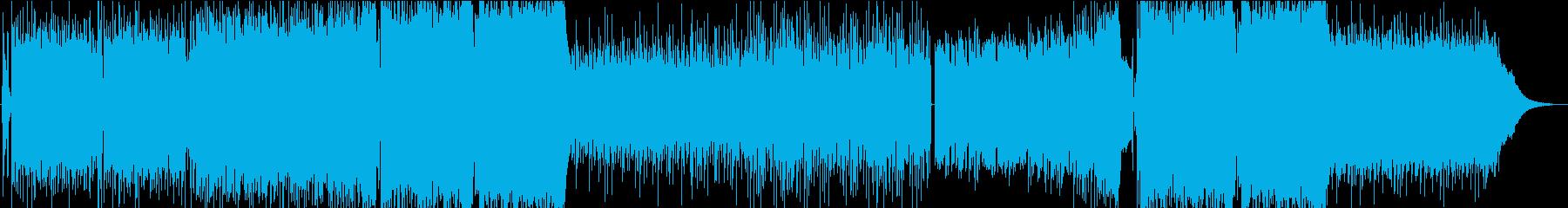 萌えボイス入りのかわいい系EDMの再生済みの波形