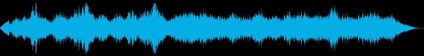 壮大な宇宙のアンビエント・テクスチャーの再生済みの波形