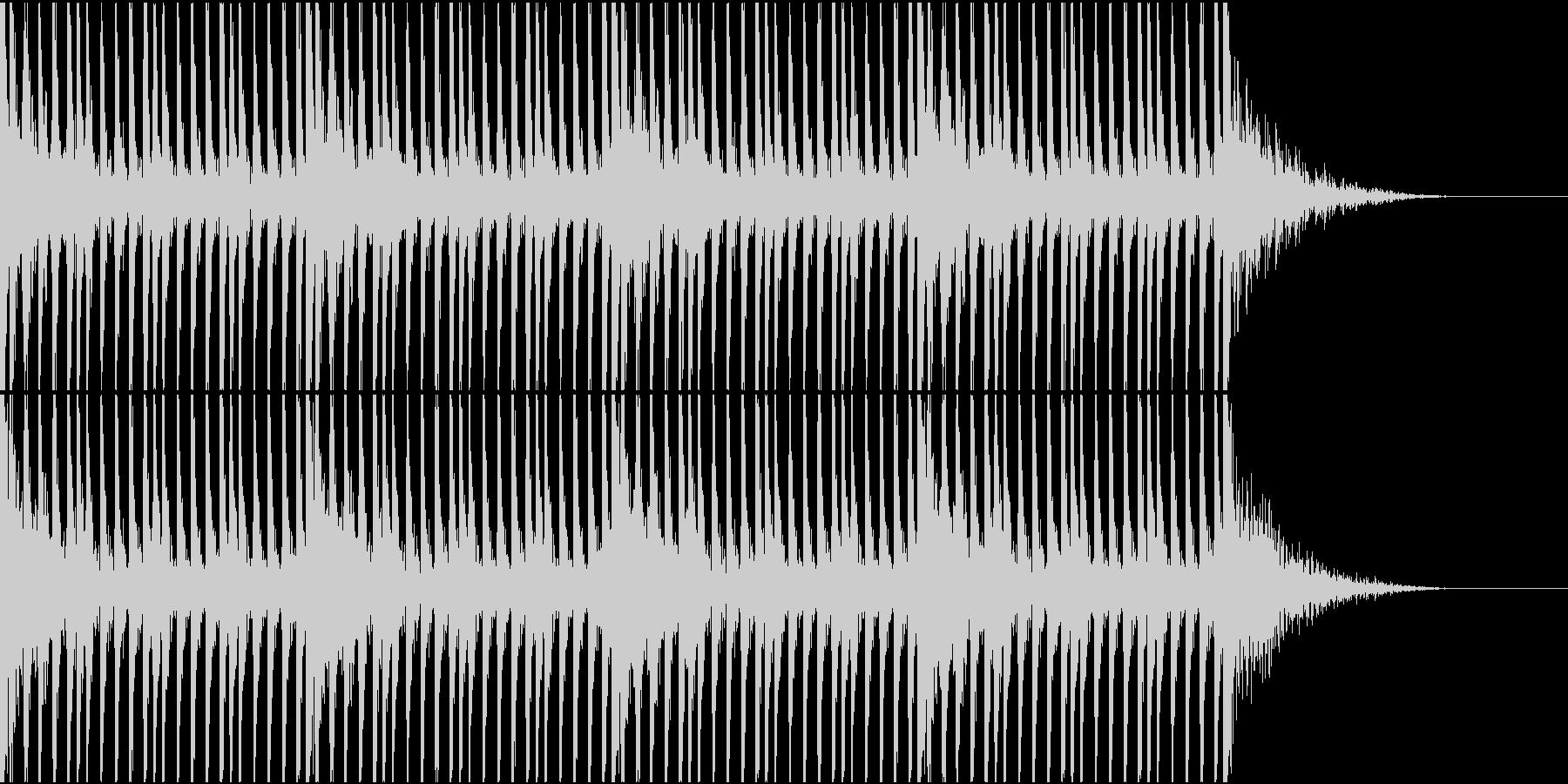 大作映画の予告編的な打楽器リズム1の未再生の波形
