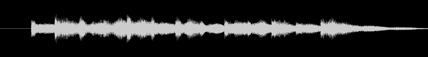 ・単音シンプルで、穏やかなサウンドロゴ…の未再生の波形