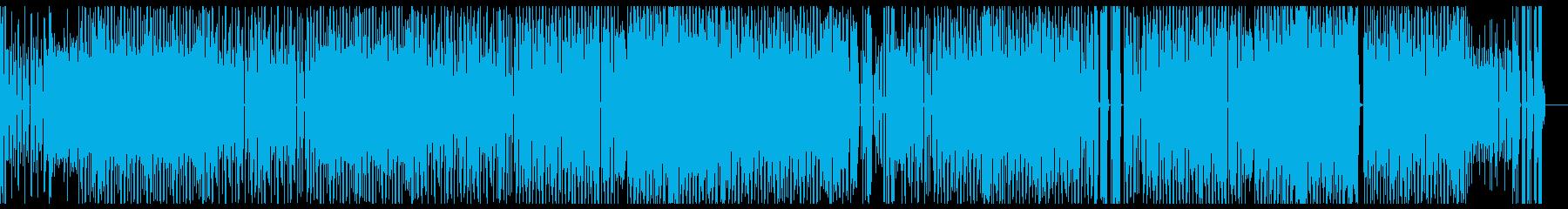 ファンキーなテクノポップの再生済みの波形