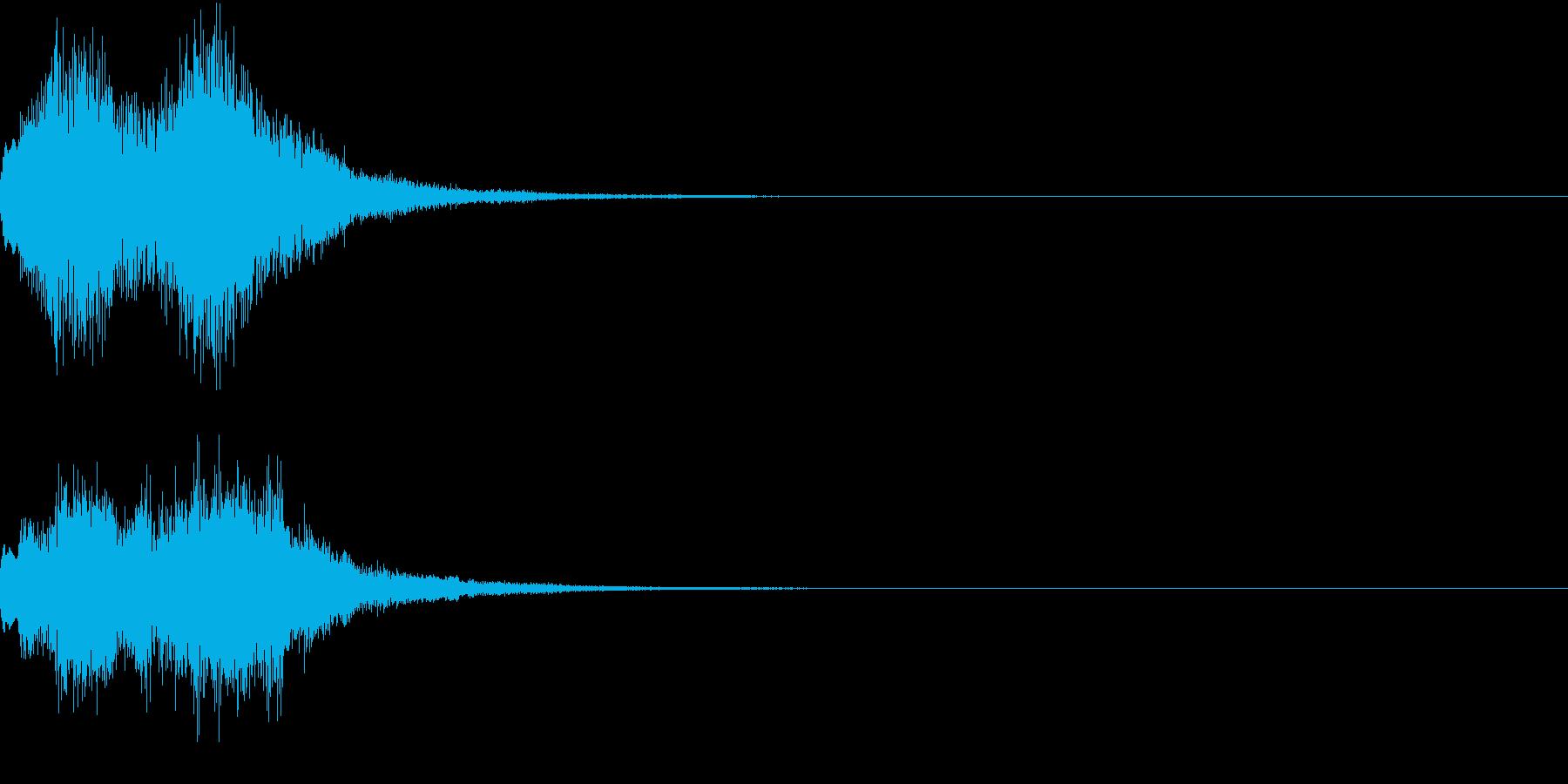緊急速報のアラート風ジングルの再生済みの波形