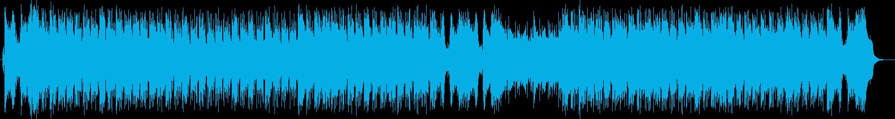 爽快で明るいシンセサイザーサウンドの再生済みの波形