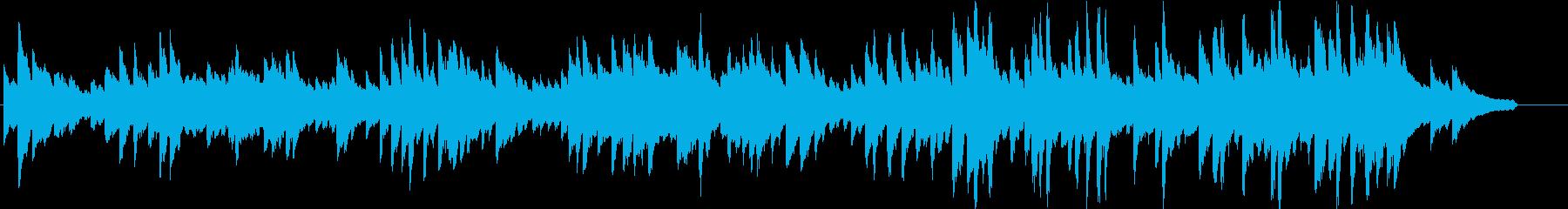 新たな風を感じるイメージのピアノ曲の再生済みの波形