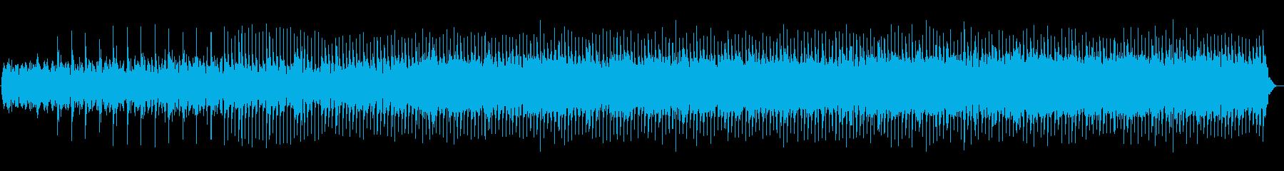 低音の効いたリズミカルな曲の再生済みの波形