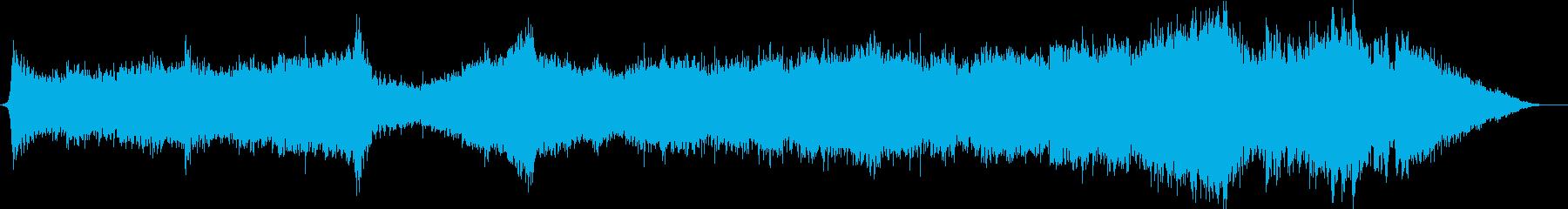 映画、ゲームの予告用、壮大な曲の再生済みの波形