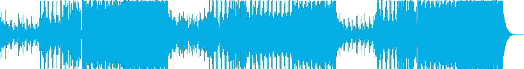 EDM 幻想的 ゲーム オープニングの再生済みの波形