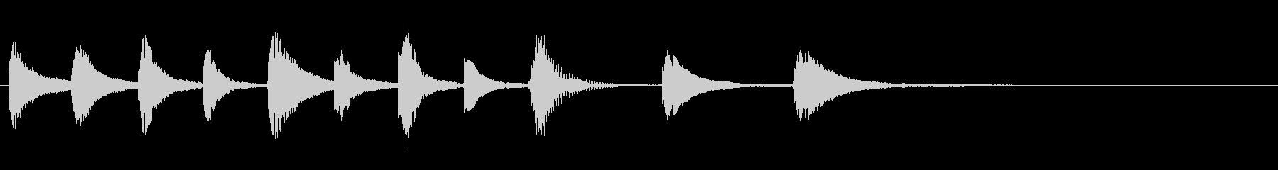 オープニングやラストに使えるサウンドロゴの未再生の波形