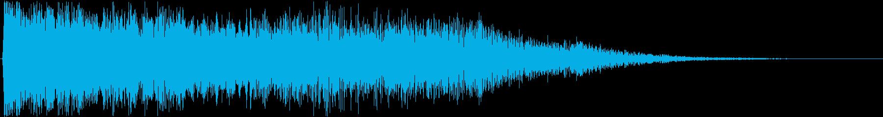 怖い系効果音 ドローン 淀んだ呻き声の再生済みの波形