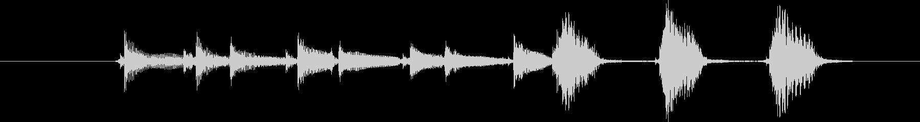 沖縄三線の音でインパクトのある掴みの未再生の波形