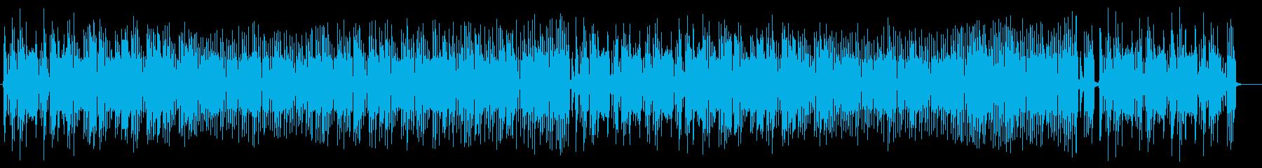 ほのぼのとしたミディアムテンポのポップスの再生済みの波形
