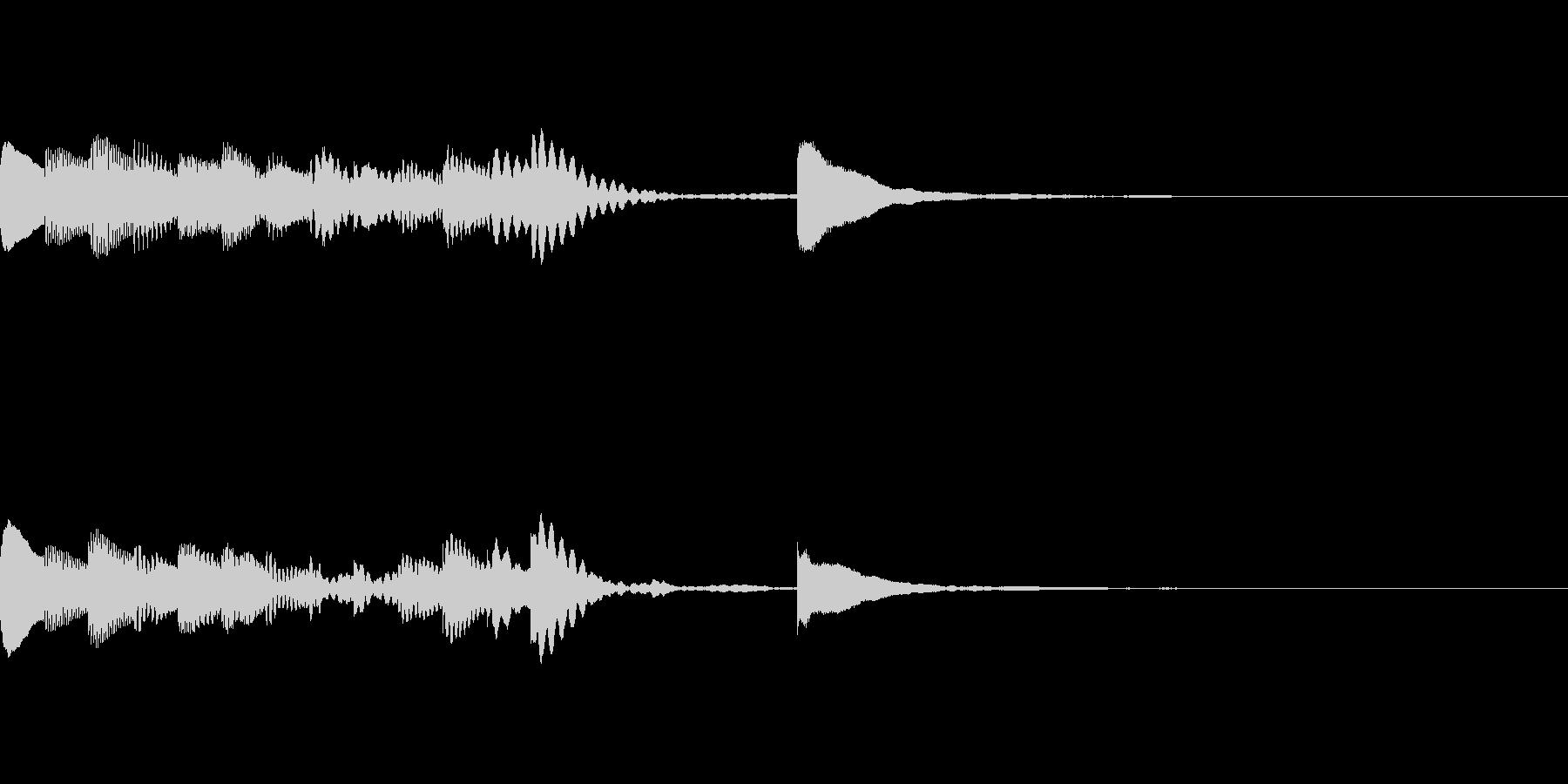 マリンバの短いジングル3の未再生の波形