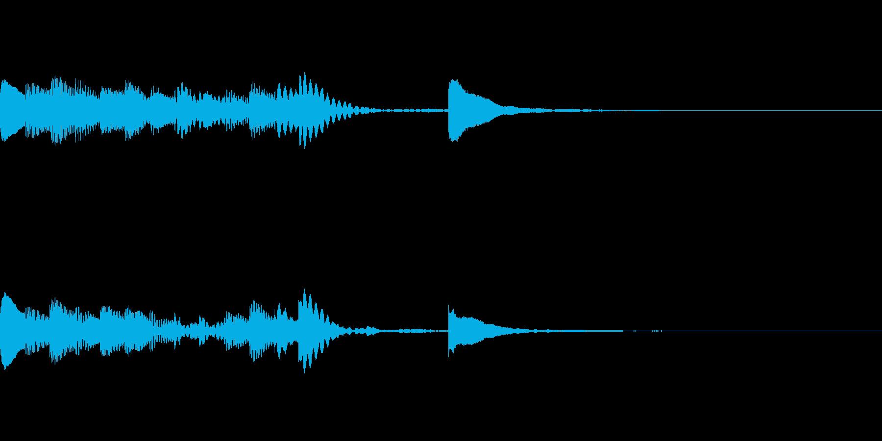 マリンバの短いジングル3の再生済みの波形