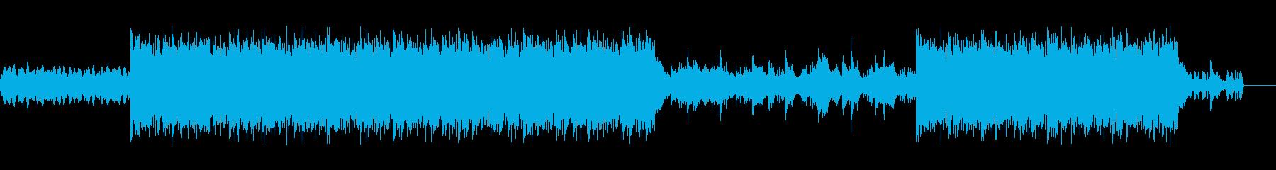 事件の手がかりを探しているような曲の再生済みの波形