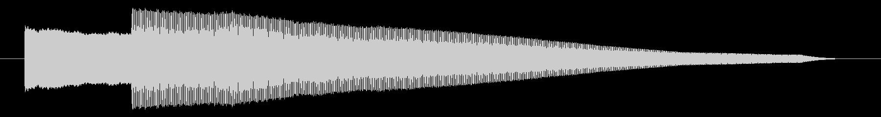 ピコー 決定 スタート 選択 セレクト音の未再生の波形