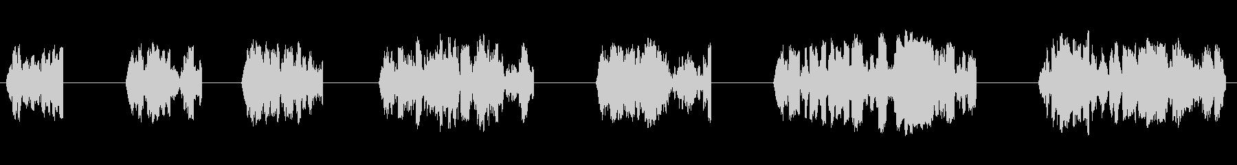エイリアン、トーキング、スイープ、...の未再生の波形