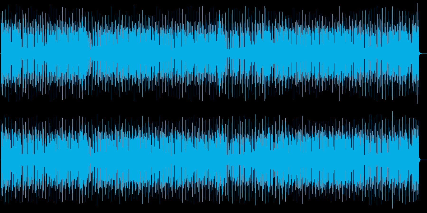 ミディアムテンポのレゲエポップスの再生済みの波形