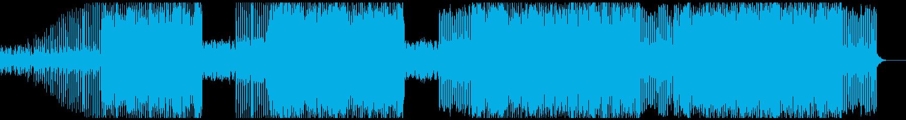 不気味なアンビエント調のテクノポップの再生済みの波形