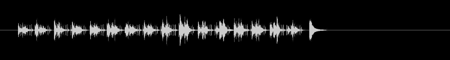 ポップで滑らかなアジアの木琴の曲の未再生の波形