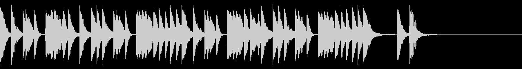 キュートでポップ はじけるピアノソロの未再生の波形