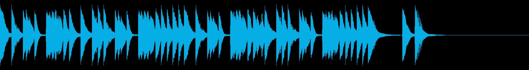 キュートでポップ はじけるピアノソロの再生済みの波形