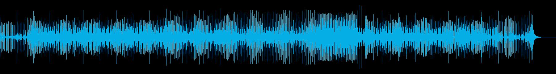和楽器を使った 和風ダンスミュージックの再生済みの波形