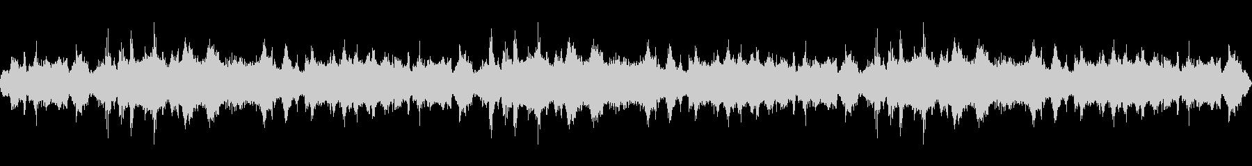 【バイノーラル録音】夜の海 波の音の未再生の波形
